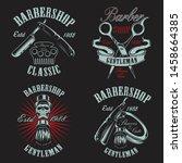 set illustration in vintage... | Shutterstock .eps vector #1458664385