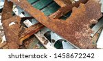 background rust brown and green ... | Shutterstock . vector #1458672242