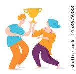 vector image of happy dancing...   Shutterstock .eps vector #1458679388