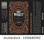 vintage liquor label template.... | Shutterstock .eps vector #1458680582