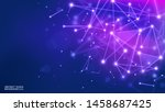 vector. blue purple polygonal...   Shutterstock .eps vector #1458687425