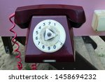 the phone is old  vintage | Shutterstock . vector #1458694232