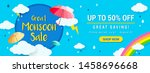 great monsoon sale banner... | Shutterstock .eps vector #1458696668