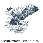 ride team.vintage typography...   Shutterstock .eps vector #1458714242