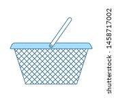 shopping basket icon. thin line ...