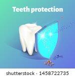 teeth protection concept. a...   Shutterstock .eps vector #1458722735