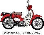 vintage retro motorcycle or... | Shutterstock .eps vector #1458726962