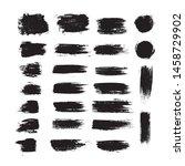 vector black paint ink brush.... | Shutterstock .eps vector #1458729902