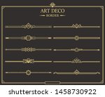 set of art deco gold... | Shutterstock .eps vector #1458730922