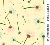 summer seamless pattern with... | Shutterstock .eps vector #1458733655