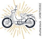 outline or line art vintage... | Shutterstock .eps vector #1458735332