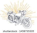 outline or line art vintage... | Shutterstock .eps vector #1458735335