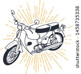 outline or line art vintage... | Shutterstock .eps vector #1458735338