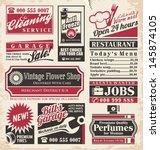 retro newspaper ads design... | Shutterstock .eps vector #145874105