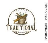 vintage logo for traditional... | Shutterstock .eps vector #1458772238
