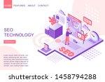 seo technology isometric vector ...