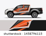 truck wrap design vector.... | Shutterstock .eps vector #1458796115