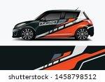 car wrap graphic racing... | Shutterstock .eps vector #1458798512