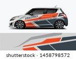 car wrap graphic racing... | Shutterstock .eps vector #1458798572