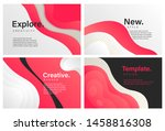 set of creative banners with... | Shutterstock .eps vector #1458816308