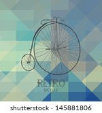 retro bicycle over geometric... | Shutterstock .eps vector #145881806
