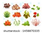 underwater marine flora. marine ...   Shutterstock .eps vector #1458870335