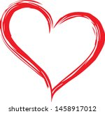 hand drawn vector valentine... | Shutterstock .eps vector #1458917012
