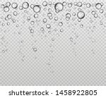 bubbles at water surface. fizzy ... | Shutterstock .eps vector #1458922805