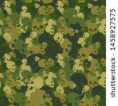 skull camo seamless pattern.... | Shutterstock .eps vector #1458927575