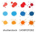 set of paint splashes.paint... | Shutterstock .eps vector #1458929282