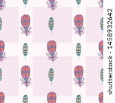 feather seamless pattern print... | Shutterstock . vector #1458932642