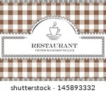 coffee blackboard lace menu... | Shutterstock .eps vector #145893332