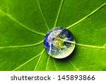 the world in a drop of water on ... | Shutterstock . vector #145893866