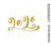 happy new year 2020 poster with ... | Shutterstock . vector #1458940028