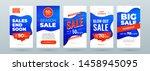 set of dynamic modern fluid... | Shutterstock .eps vector #1458945095