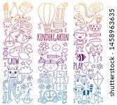 kindergarten preschool school...   Shutterstock .eps vector #1458963635
