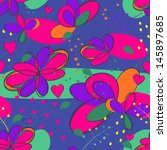 crazy floral seamless pattern | Shutterstock .eps vector #145897685