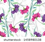 seamless colorful fancy flower... | Shutterstock .eps vector #1458980138