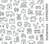 seamless pattern with farming... | Shutterstock .eps vector #1459002905