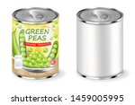 green peas can vector realistic.... | Shutterstock .eps vector #1459005995