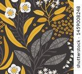 seamless vector floral pattern. ...   Shutterstock .eps vector #1459008248