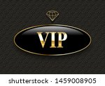 vip black glass label with... | Shutterstock .eps vector #1459008905