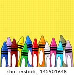 Multi Colored Crayons Frame On...