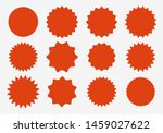 sunburst label icons. promo... | Shutterstock .eps vector #1459027622