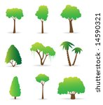 trees icon set | Shutterstock .eps vector #14590321