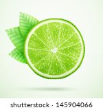 fresh lime with leaves eps10... | Shutterstock .eps vector #145904066