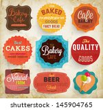 set of retro bakery label cards ... | Shutterstock .eps vector #145904765