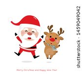 merry christmas and happy new... | Shutterstock .eps vector #1459049042