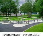 Picnic Area By Office Building...