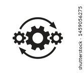 gears wheel with arrows  ... | Shutterstock .eps vector #1459056275